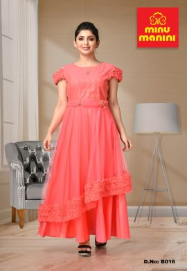 Minu Multi Net Fancy Fabric Gown