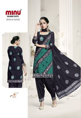 Minu Multi Batik Print Exclusive Winter Collection Salwarsuit