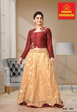 Minu Multi Dola Silk With Banarasi Silk Gown