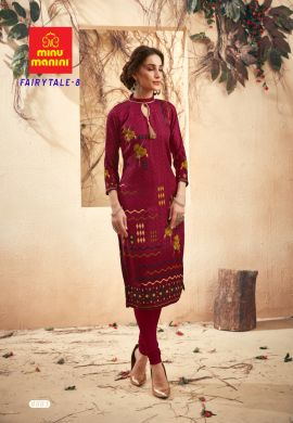 Minu Maroon Pashmina Fabric Winter Wear Exclusive Kurti