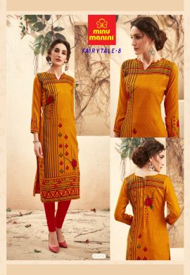 Minu Golden Pashmina Fabric Winter Wear Exclusive Kurti
