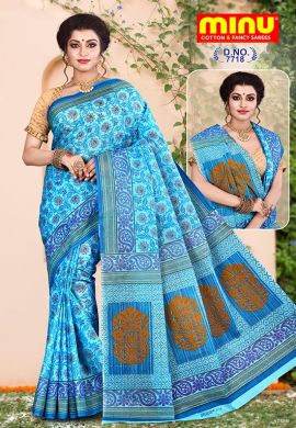 Minu Multi Cotton Sarees