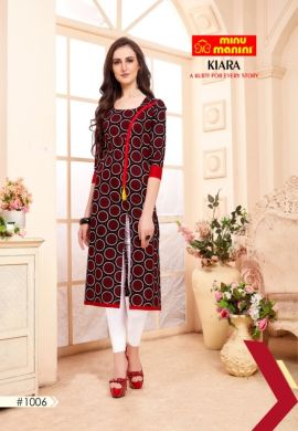 Minu Multi Cotton Mix & Match Designer Long Kurtis Kurti