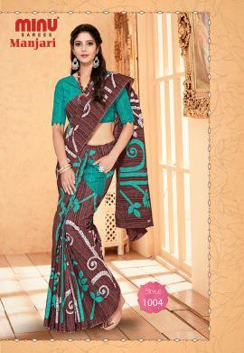Minu Multi Cotton Designer #Pocketsaree Sarees