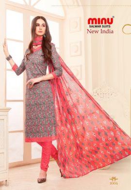 Minu Multi Cotton Printed Designer Salwarsuit