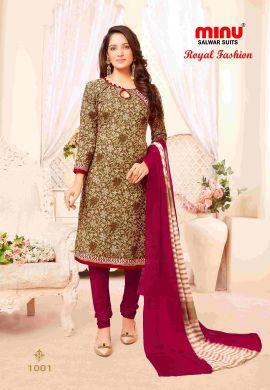 Minu Multi Minu Cotton Printed Unstitched Salwar Set Salwarsuit