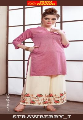 Minu Pink Pure Cotton Handloom Designer Kurti