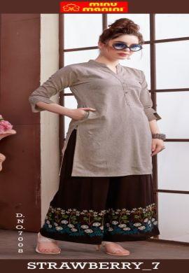 Minu Till Pure Cotton Handloom Designer Kurti