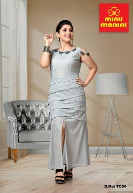 Minu Grey Lykra Gown