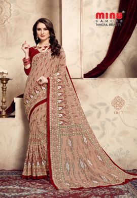 Minu Multi Cotton Printed Exclusive Tangle Beauty Saree Sarees