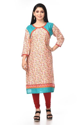 Minu Multi Cotton _In L Size Kurti