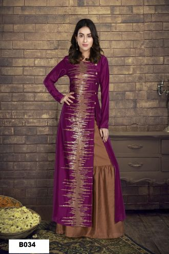 Minu Pink Muslin Golden Embroidered Gown With Crackle Bottom Gown