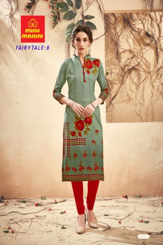 Minu Green Pashmina Fabric Winter Wear Exclusive Kurti