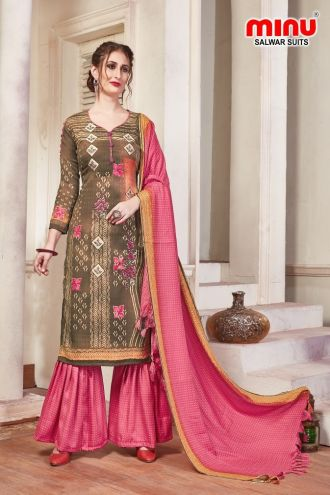 Minu Multi Pashmina Fabric Winter Wear Exclusive Collection Salwarsuit