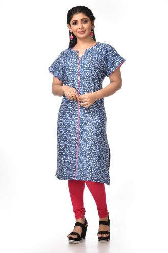 Minu Grey Cotton Kurti