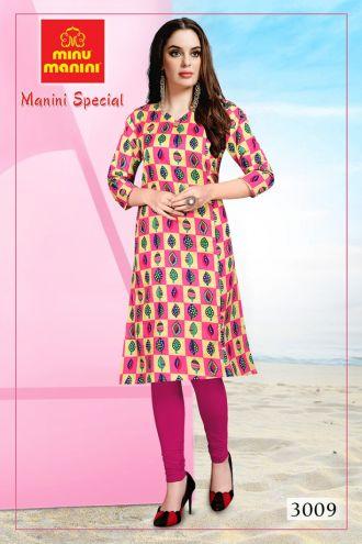 Minu Multi Premium Cotton Long Ethnic Wear Kurtis Kurti