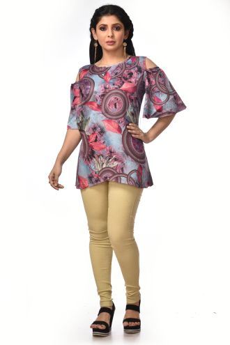Minu Multi Satin Cotton Kurti