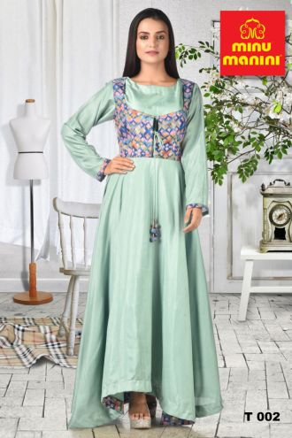 Minu Emerald Green Dola Silk Gown