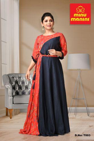 Minu Multi Rayon Gown