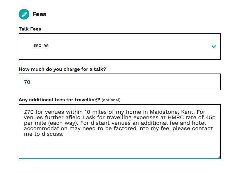 talk fees