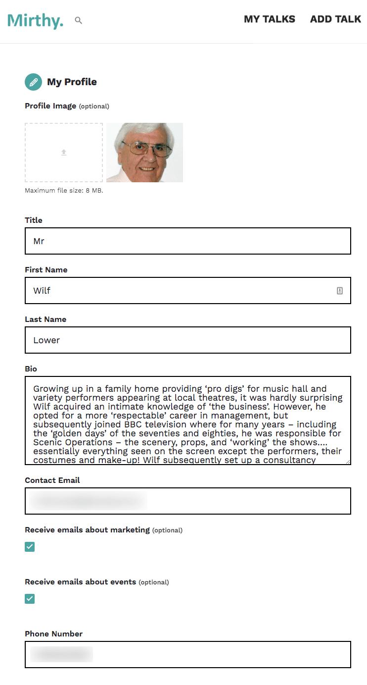 complete profile
