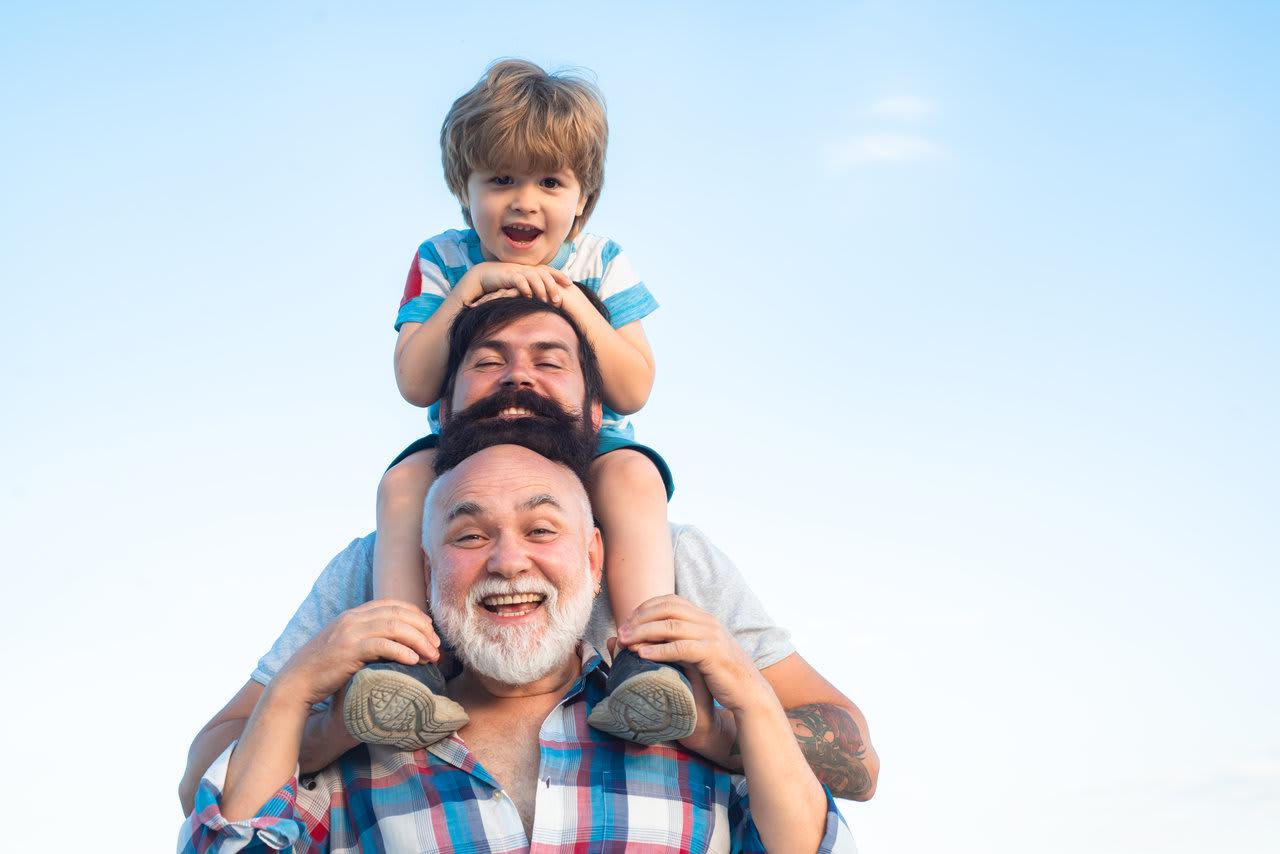 grandfather-son-grandchild