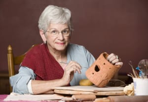 woman doing arts and crafts