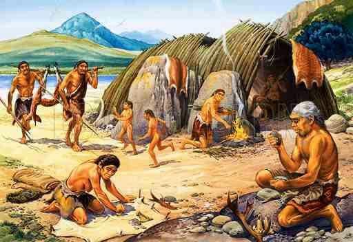 A Neanderthal encampment