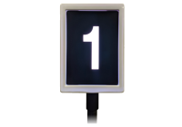 Position display that signals what register number it is.
