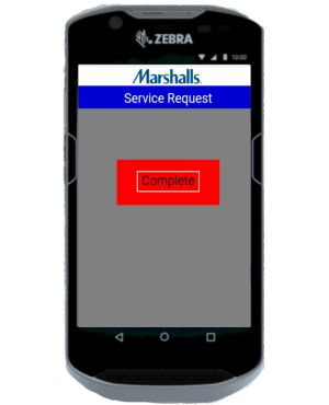 CounterService app shows completed requests.