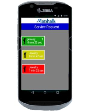 CounterService app shows available requests.