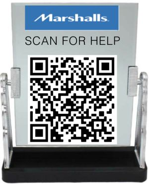 QR Code that can be scanned for help.