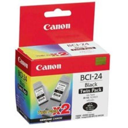 זוג ראשי דיו מקורי קנון שחור CANON BCI24