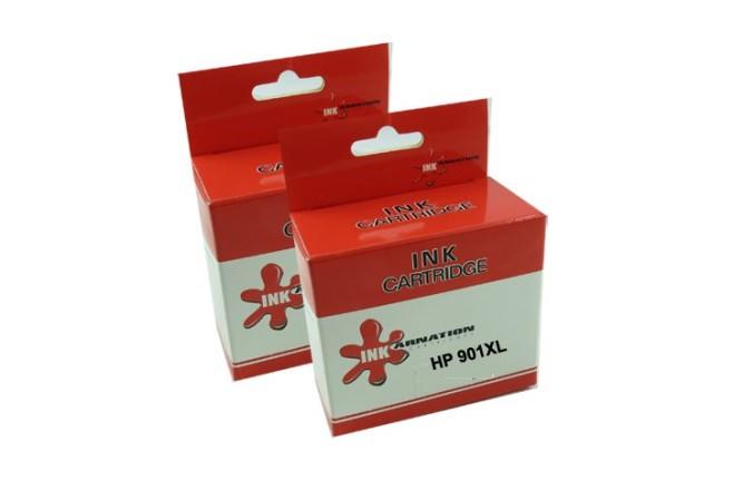 זוג ראשי דיו תואמים שחור וצבע  HP - 901XL
