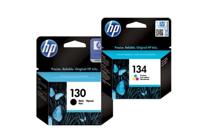 זוג ראשי דיו שחור+צבעוני מקוריים (HP C8767H +C9363HE (130+134