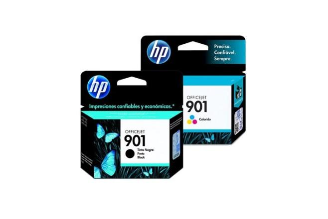 זוג ראשים שחור+צבעוני מקורי (HP CC653AE+CC656AE (901+901