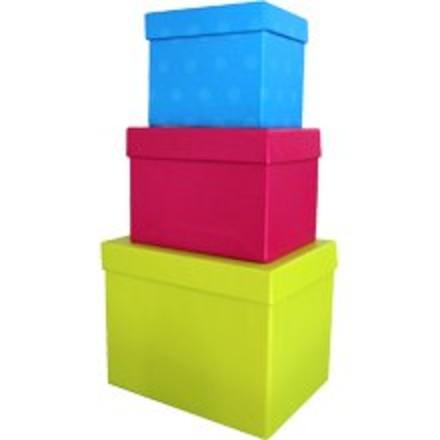 סט 6 קופסאות ריבוע לאיחסון זוהר