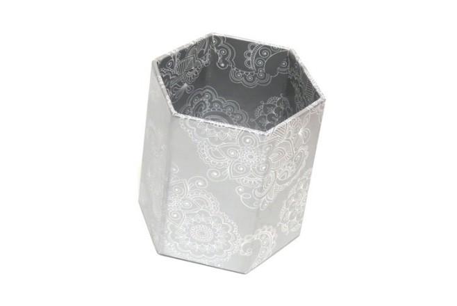 כוס מעוצבת מנייר - מטאלי