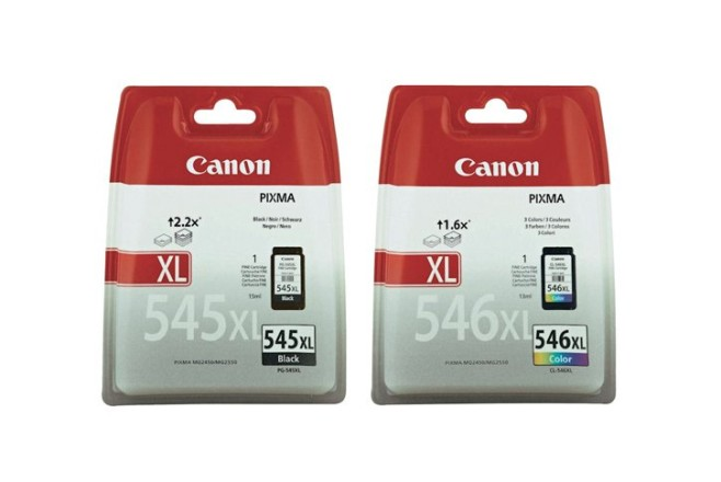זוג ראשי דיו  מקורי קנון CANON PG-545XL+CL-546XL