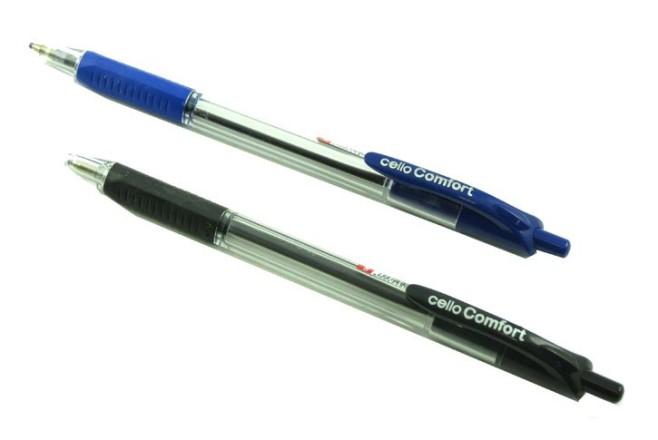 עט כדורי  עם לחצן כרית אחיזה CELLO COMFORT