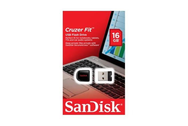זכרון USB נייד SanDisk® Cruzer® Fit™ Z33  -נפח 16GB