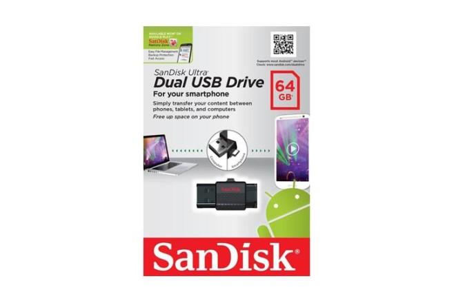 זכרון SanDisk Ultra Dual USB Drive נפח 64GB