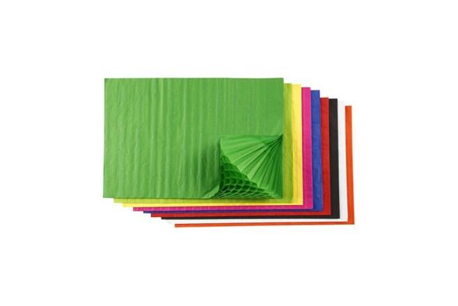 נייר חלת דבש במגוון צבעים מרהיבים