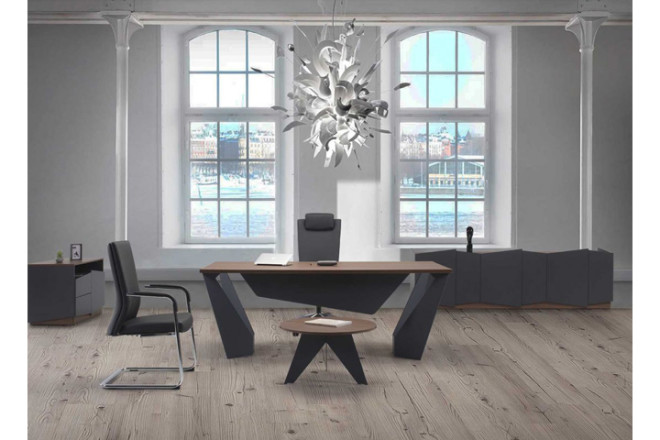 שולחן קפה עגול VIVA קוטר 70 ס``מ רגל שחורה