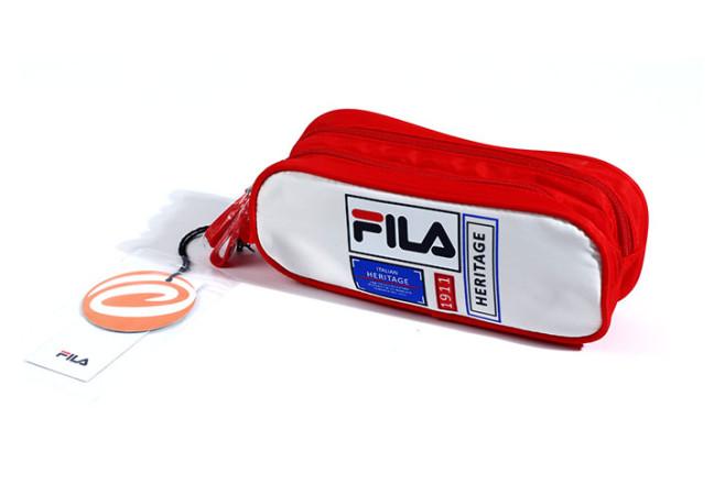 קלמר 2 תאים FILA - אדום/לבן 274481