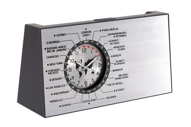 שעון עולם שולחני עם מעמד כרטיסי ביקור