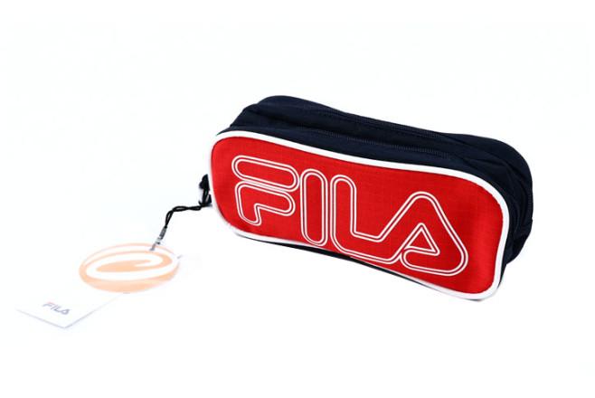 קלמר 2 תאים FILA - כחול/אדום 274450