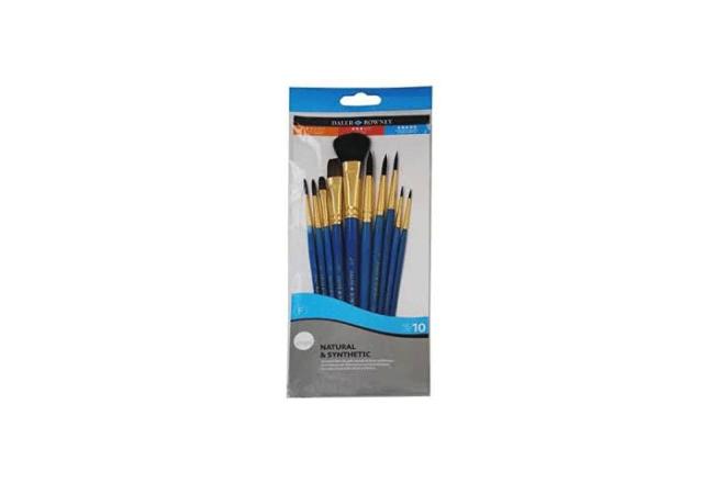 SIMPLY סט 10 מכחולים שיער מעורב לצבעי מים