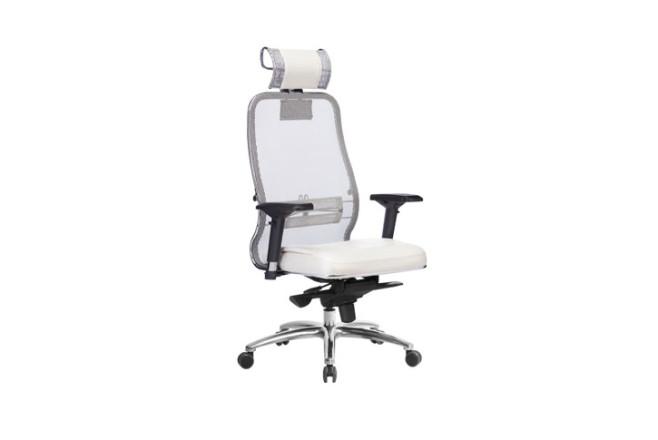 כסא מנהל גב רשת ארגונומי Samurai SL-3.04 לבן