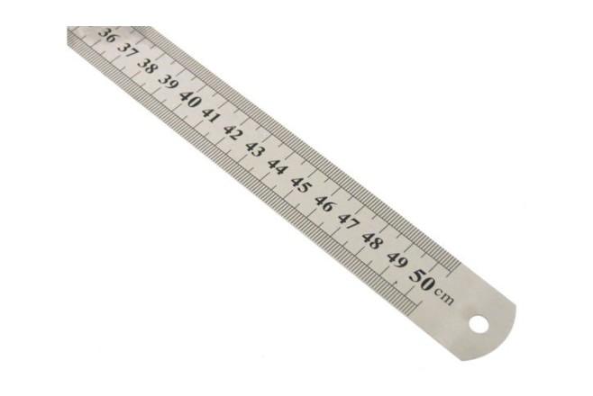 סרגל מתכת 50 ס``מ